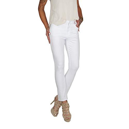 f87ab3dacdab67 Dresscode-Berlin DB Damen Super Stretch High Waist Röhrenjeans bis  Übergröße Plus Size in weiß, schwarz und blau