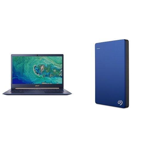 Acer Swift 5 Ultrabook 14-Inch Notebook (Intel Core i5-8250U, 8 GB RAM, 256 GB SSD, Intel UHD Graphics 620, Windows 10 Home) + 2TB Seagate Backup Plus Slim External Hard Drive
