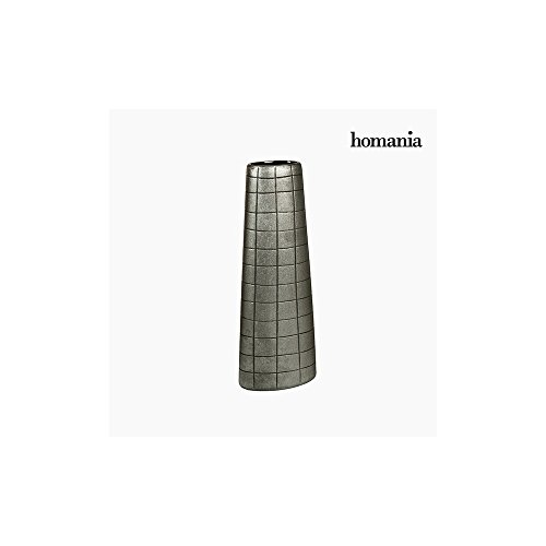 Vase Céramique Argent (17 x 9 x 44 cm) by Homania