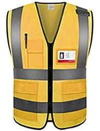 RIRUI Chaleco Unisex Reflectante De Alta Visibilidad Adecuado para Tejido De Punto para Deportes Nocturnos,