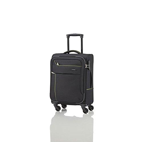 Travelite SOLARIS 4 Rad Trolley S, 88147-01 Koffer, 54 cm, 36 L, Schwarz/Limone