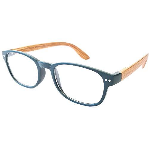 Damen Lesebrille Herren Lesebrillen moderne Form und Farben leicht Federbügel Anti Rutsch Oberfläche (2.5, dunkelgrün)