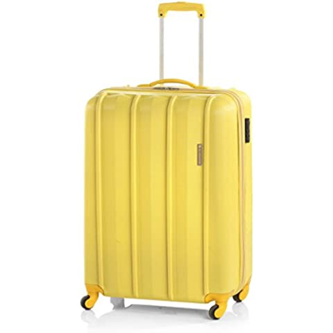 Maleta cabina rígida ABS de cuatro ruedas amarilla, Thess de Gladiator (Cabina, Amarillo)
