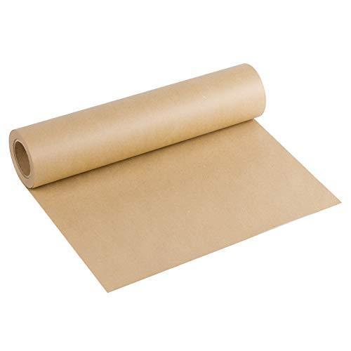 RUSPEPA Braune Kraftpapierrolle - 38,1 Cm X 30 M - Naturrecyclingpapier, Ideal Für Kunsthandwerk, Kunst, Kleine Geschenkverpackungen, Verpackung, Post, Versand, Lagerhaltung