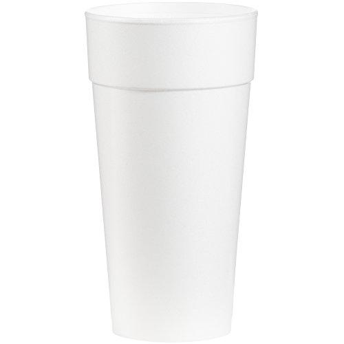 Dart 24j16Drink Becher aus Schaumstoff, Heiß/Kalt, Maurerhammer, weiß, 25pro Tasche (Fall von 20Staubbeutel) Dart Big Drink Cup