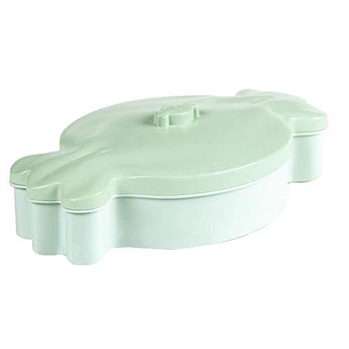 Snack Box Candy Form Sechs-teilige Kunststoff-Aufbewahrungsbox Candy Box Nut Box, 29,5 cm * 17,8 cm * 6,5 cm (Farbe : Grün) (Nuts-box)