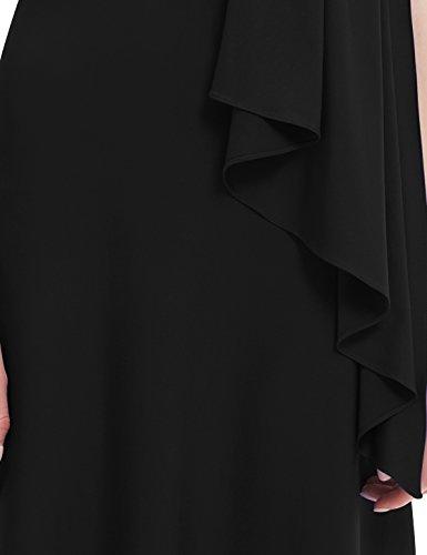 Ever Pretty Robe de soir¨¦e longue orn¨¦e d'un diamant 09463 Noir