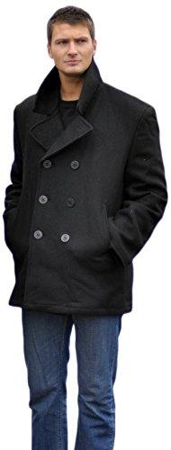 Mil-Tec Herren Us Navy PEA Coat Tuch Jacke, Schwarz, 5XL (Pea-jacke)