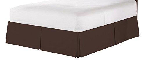 Clara Clark PREMIER 1800Kollektion massiv Bett Rock Staub Rüsche, Queen, Schokolade Braun (Queen-schokolade Bett)