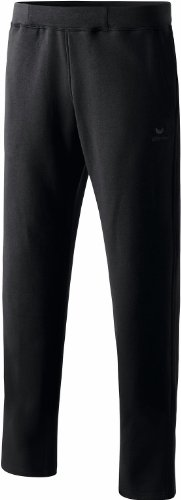 Erima Herren Sweathose Pants ohne Bündchen, schwarz, XL, 210331