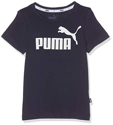 PUMA Jungen Ess Logo Tee B T-Shirt, Peacoat, 152 -