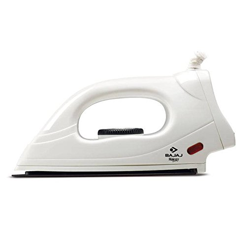 Bajaj Majesty DX 4 Anti-Drip Non-Stick Stainless Steel Soleplate Dry Press Iron with Variable Temperature Control and Retractable Cord