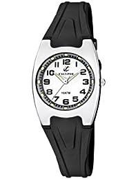 Calypso - K6042/F - Montre Fille - Quartz - Analogique - Aiguilles lumineuses - Lumineuse - Boussole - Bracelet plastique noir