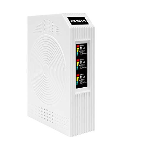 KKBSTR Amplificateur de Signal pour Téléphones Portables, Répéteur de Signal Mobile Tri-Bande 900/1800/2100MHz