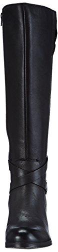 Bugatti V57351, Damen Langschaft Stiefel Schwarz (schwarz 100)