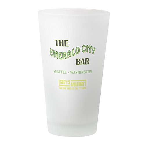 CafePress The Emerald City Bar Pint-Glas frosted
