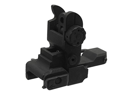 CYMA Tactical Rear Flip Up Sight für Airsoft M4 / M16 Modelle, bestehend aus Metall (Rear Sight Metall)