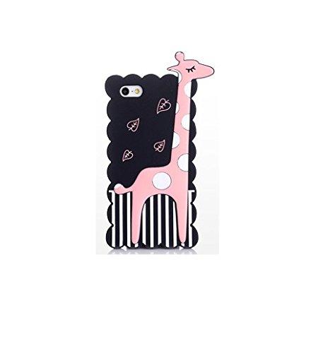 """BACK CASE 3D GIRAFFE für Apple iPhone 6 4,7"""" Apple iPhone 6S Hülle Cover Case Schutzhülle Tasche (weiß) schwarz"""