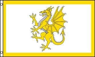 AZ FLAG Bandera con el Dragon Dorado DE Gales 150x90cm - Bandera GALESA 90 x 150 cm