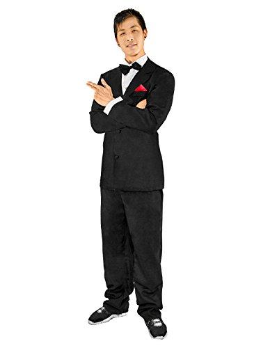 ORION COSTUMES Geheimagent Kostüm für Herren Auftragskiller schwarz XL