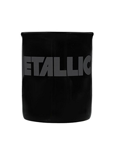Metallica - gris taza con logotipo negro
