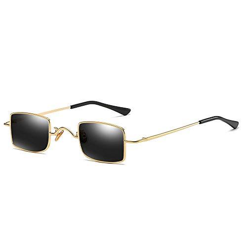 AAMOUSE Sonnenbrillen Rechteckige Sonnenbrille Männer Anti Blaues Licht Kleine Metallrahmen Retro Quadrat Sonnenbrille Frauen Altmodische Glas