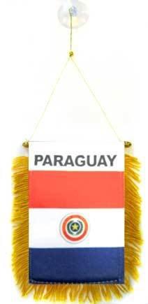 BANDERIN de PARAGUAY 15x10cm con ventosa - BANDERINA PARAGUAYA 10 x 15 cm para coche - AZ FLAG