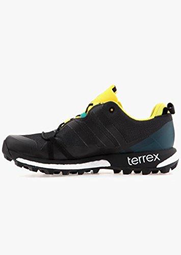 adidas Terrex Agravic GTX Dark Grey Black Yellow Noir