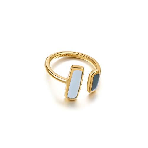 ZWW London Blue Topa mit Aquamarine Open Ring