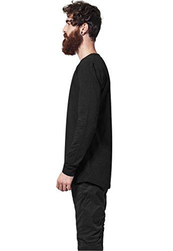 Urban Classics uomo Shaped Fashion a maniche lunghe da uomo Black