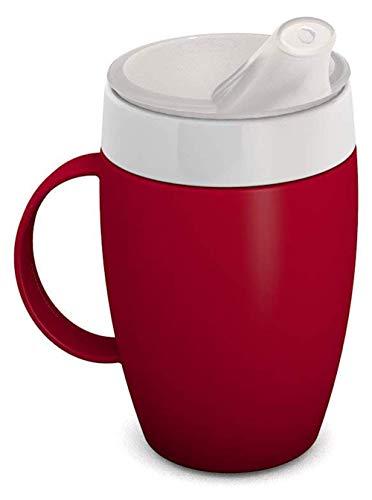 Ornamin Becher mit Trink-Trick, Thermofunktion und Schnabelaufsatz 140 ml rot (Modell 905 + 806) / Thermobecher, Spezial-Trinkhilfe, Schnabelbecher