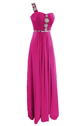 Sunvary, Glamour, guaina Sweetheart vestito da sposa Una spalla abito da sera Pageant rosa fucsia