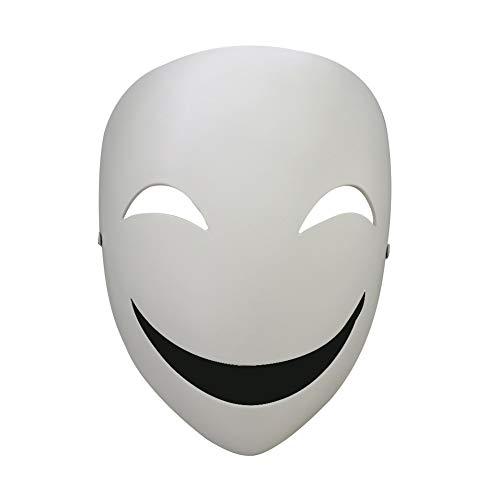 Steellwingsf japanische Anime Hiruko lächelnd Clown voller Gesicht Maske Maskerade Party Cosplay Prop - weiß