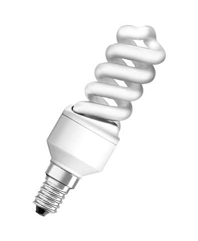 Osram 509062 Duluxstar Nano Twist 9 W/840, entspricht 40 Watt, 220-240 V Sockel E14 Energiesparlampen in Spiralform klein 30 mm, kaltweiß
