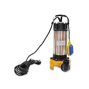 Bomba Sumergible Para Agua Sucias 2200W, 230v, 30000L/h, Acero Inoxidable, Profundidad Máxima 14m, 8m De Cable Eléctrico…