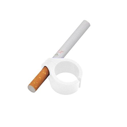 Rauchen Ring, Gusspower Silikon Hände frei Zigarette Fingerhalter, Dehnbar und Langlebig Zigarren Zubehör, Schützen Sie Ihren Finger für Console Gamers Guitar Players und Treiber (Weiß) (Ringe Schütze)