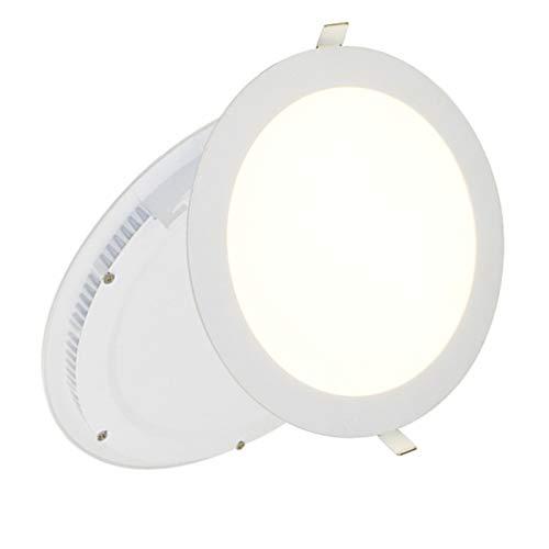 18W LED Rund Panel Light 225x 225x 13mm Ultra Slim Down Light Einbauleuchte Deckenleuchte 6500K Day Weiß Beleuchtung 1440Lumen sehr hell 150W Glühlampe Ersatz Runde 13