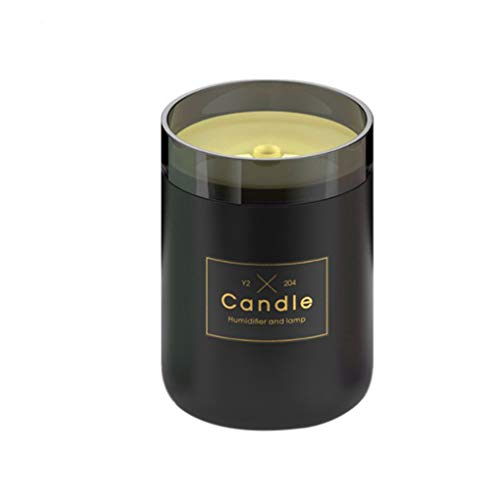 FloralLive 280ml Sonic Luftbefeuchter Kerze Romantische Soft Light USB Ätherisches Öl Diffuser Auto Purifier-Nebel-Hersteller -