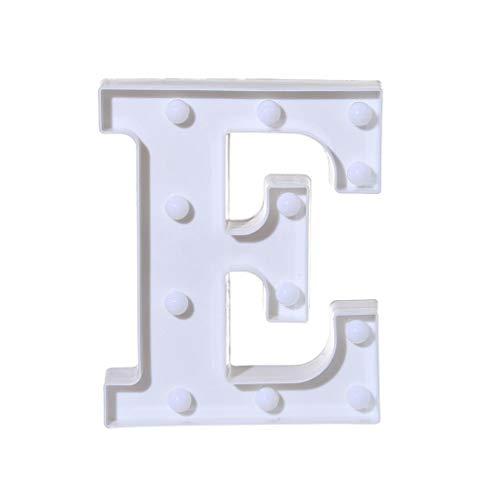 (Winkey A-Z Alphabet LED Licht Leuchtet, Buchstabe weiß Kunststoff Buchstaben Stehend Zum Aufhängen, e, 22cm X 18cm X 4.5cm(8.7