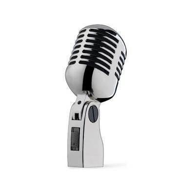 Yoga DM-868 50s Elvis Style Chrome Retro Microphone - (Vintage Mic Silver/Chrome Finish)