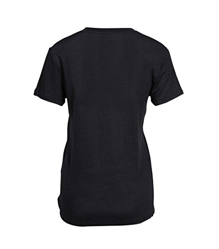 IRO Damen Kurzarmshirt Aus Leinen Luciana in Schwarz BLA01 black