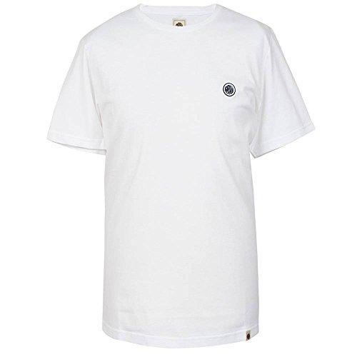 Pretty Green Herren Crew Neck T-Shirt Marineblau oder Weiß Weiß - Weiß