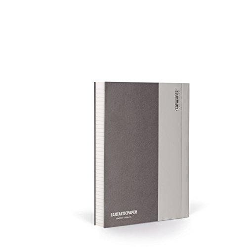FANTASTICPAPER 4610155 Color 11 Notizbuch A6 Liniert, Stone & Warm Grey 192 Seiten