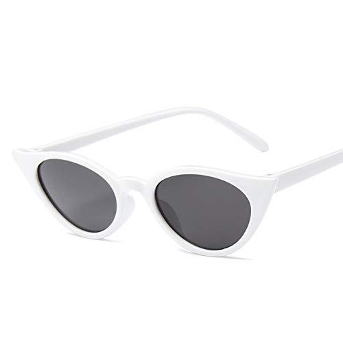 GJYANJING Sonnenbrille Mode Frauen Cat Eye Sonnenbrille Schwarz Platic Weibliche Vintage Sunglass Heißer Verkauf Sonnenbrille