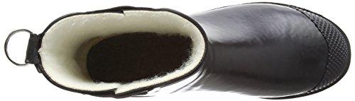 Gummistiefel Jacobsen intérieure Kurz Rub47f avec femme caoutchouc Ilse Damen Noir doublure 001 en Bottes q6dvWE