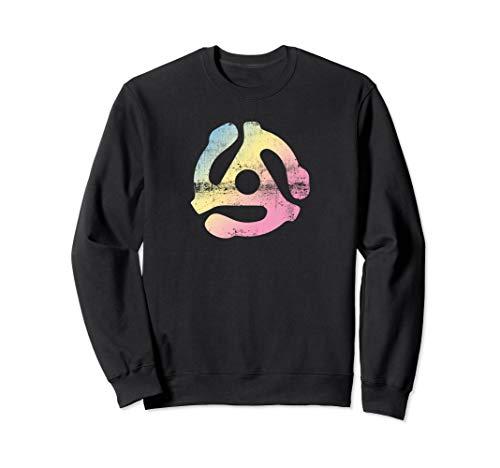 45 RPM Schallplatten Adapter Damen Geschenke Sweatshirt Adapter Sweatshirt