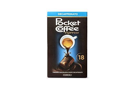 Ferrero Pocket Coffee Decaffeinato, Confezione da 18 Praline - 225 gr