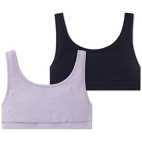 Schiesser Mädchen Multi-Pack 2Pack Bustiers Bustier, Mehrfarbig (Sortiert 1 901), 176 (Herstellergröße: L) (erPack 2