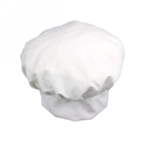 Toogoo - Cappello regolabile in policotone da chef, cuoco, pasticcere, colore: Bianco