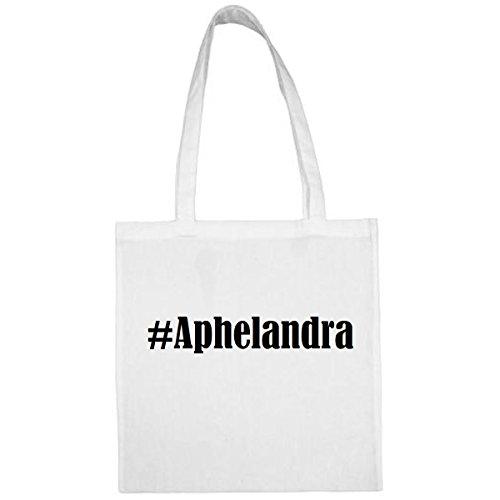 Tasche#Aphelandra Größe 38x42 Farbe Weiss Druck Schwarz